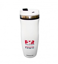 Thermos with Power Hit Radio logo