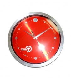 Wall clock with 7 O'clock news logo