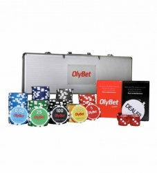 Poker set with Olybet logo