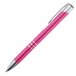 Logotrade promotional giveaways photo of: Metal ball pen 'Ascot'  color pink