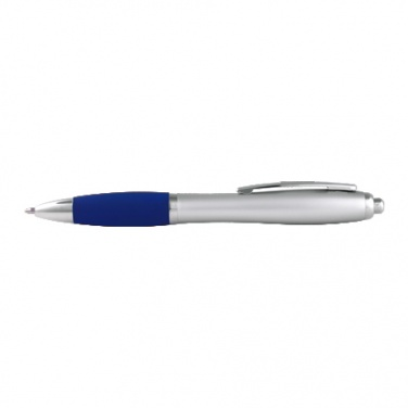 Logo trade promotional product photo of: Plastic ball pen St. Petersburg blue