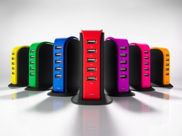 Logo trade promotional giveaways image of: Desk charger Power Tower PT50-BU