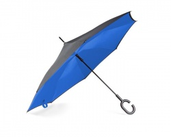Logo trade promotional products picture of: Umbrella Revers black and blue