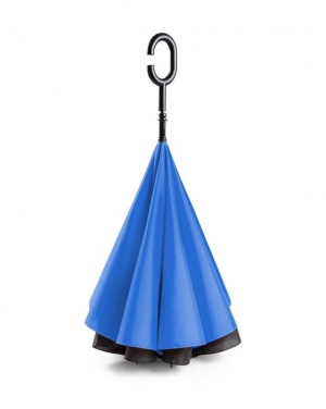Logo trade promotional merchandise photo of: Umbrella Revers black and blue