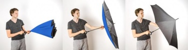 Logotrade promotional product image of: Umbrella Revers black and blue