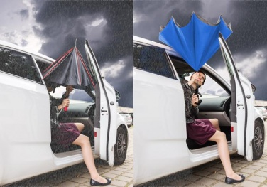 Logotrade promotional giveaway picture of: Umbrella Revers black and blue