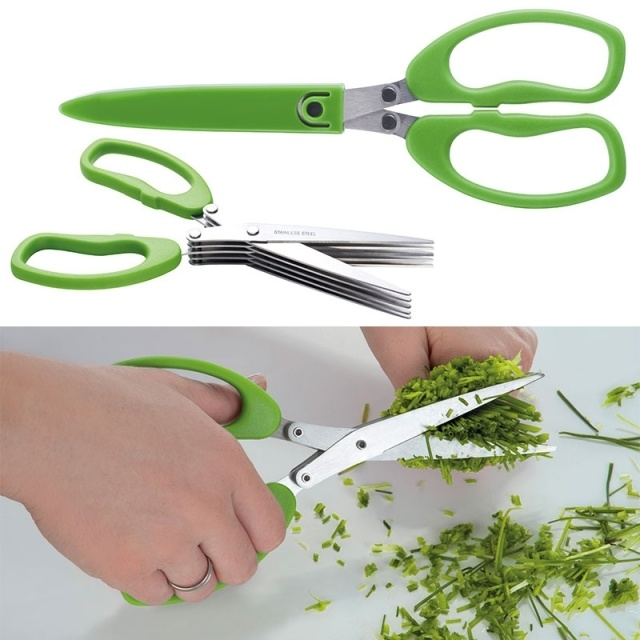 Logotrade promotional merchandise photo of: Chive scissors 'Bilbao'  color light green