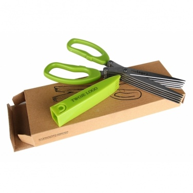 Logo trade advertising products picture of: Chive scissors 'Bilbao'  color light green