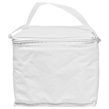 Logotrade promotional item image of: Cool bag 'Mesa'  color white