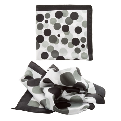 Logotrade business gifts photo of: ladies scarf, black and white