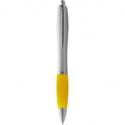 Logo trade advertising products image of: Nash ballpoint pen, yellow