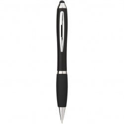 Logo trade corporate gifts picture of: Nash stylus ballpoint pen, black