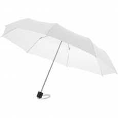 21,5'' 3-section Umbrella Ida, white
