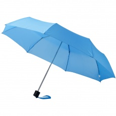 21,5'' 3-Section Umbrella Ida, light blue
