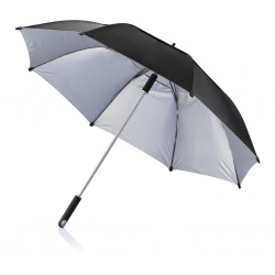 "Logotrade promotional merchandise picture of: 27"" or 120 cm Hurricane storm umbrella, black"
