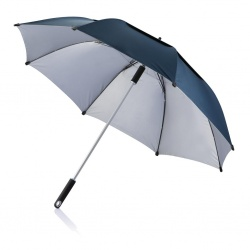 "Logotrade promotional products photo of: 27"" Hurricane storm umbrella, blue"