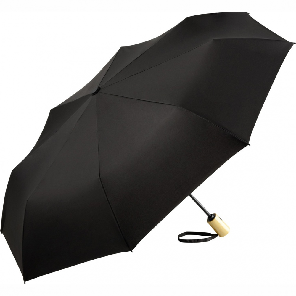 Logo trade promotional products image of: AOC mini umbrella ÖkoBrella 5429, Black