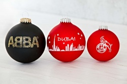 Logo trade promotional products picture of: Christmas ball with 1 color logo 6 cm