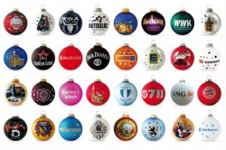 Logo trade promotional product photo of: Christmas ball with 4-5 color logo 6 cm