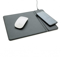 Logo trade promotional gift photo of: Mousepad with 5W wireless charging, black