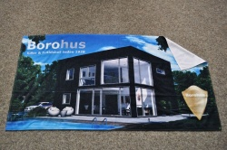 Logo trade corporate gift photo of: Digital printed towel 70 x 140 cm ENG