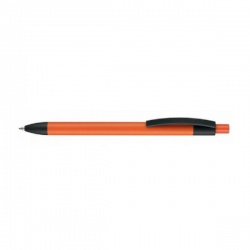 Logotrade promotional giveaway image of: Pen, soft touch, Capri, orange