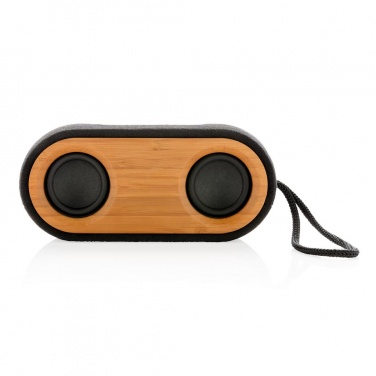 Logotrade promotional giveaway picture of: Bamboo X double speaker, black
