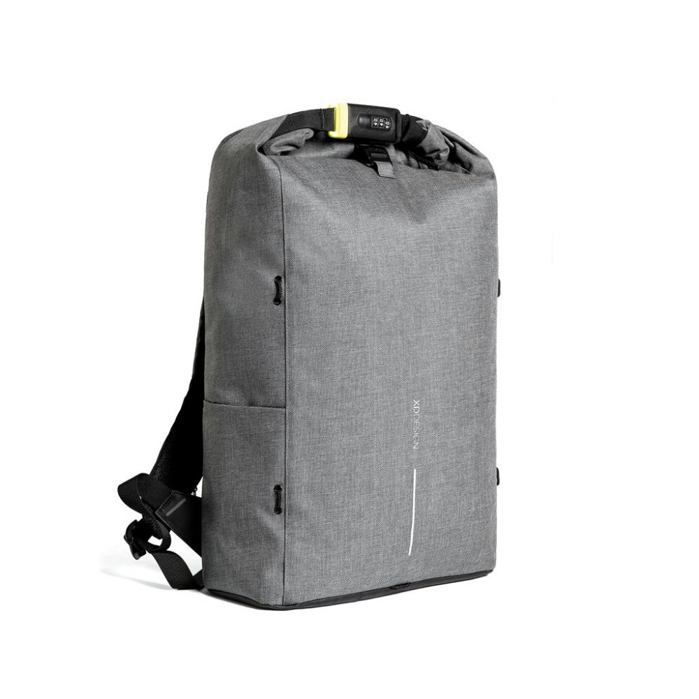Logotrade promotional item picture of: Bobby Urban Lite anti-theft backpack, grey