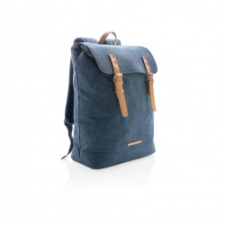 Logotrade corporate gift picture of: Canvas laptop backpack PVC free, blue