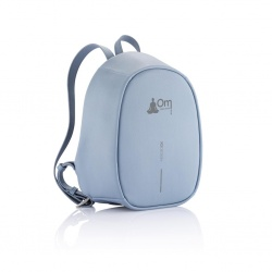 Logo trade promotional items image of: Bobby Elle anti-theft backpack, light blue