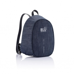 Logo trade promotional merchandise image of: Special offer: Bobby Elle anti-theft backpack, blue