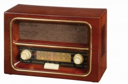 Logo trade promotional merchandise picture of: AM/FM radio RECEIVER, brown