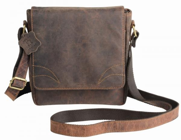 Logo trade promotional items picture of: Genuine leather bag WILDERNESS, brown