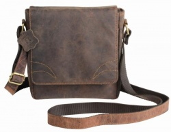 Logo trade promotional item photo of: Genuine leather bag WILDERNESS, brown