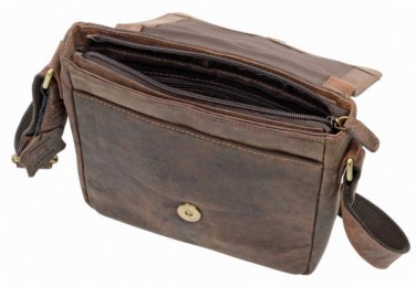 Logo trade corporate gifts picture of: Genuine leather bag WILDERNESS, brown