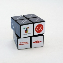 Logo trade promotional items image of: 3D Rubik's Cube, 2x2