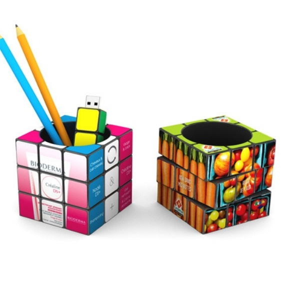 Logotrade advertising product picture of: 3D Rubik's Pen Pot