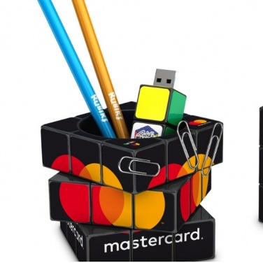 Logotrade promotional product picture of: 3D Rubik's Pen Pot