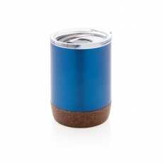 Cork small vacuum coffee mug, blue