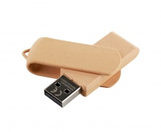 Biodegradable USB memory stick, brown