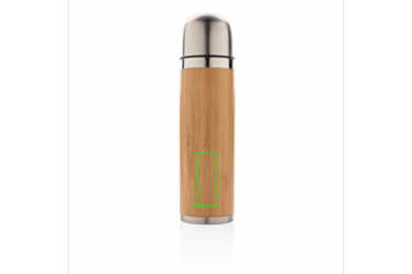 Logo trade promotional merchandise picture of: Bamboo vacuum travel flask, brown