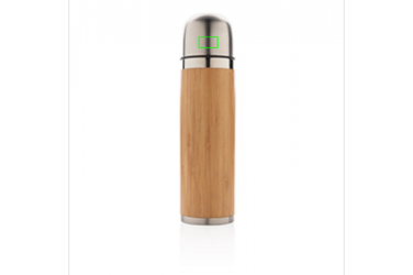 Logotrade promotional gift image of: Bamboo vacuum travel flask, brown