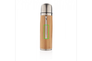 Logo trade corporate gift photo of: Bamboo vacuum travel flask, brown