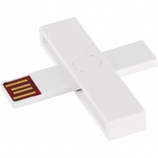 +ID smart card reader, USB, white