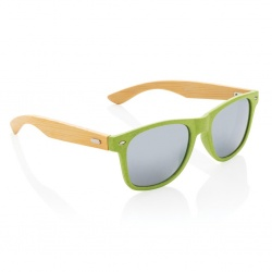 Logotrade promotional gift image of: Wheat straw and bamboo sunglasses, green