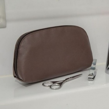 Logotrade promotional gift image of: Apple Leather Toiletry Bag