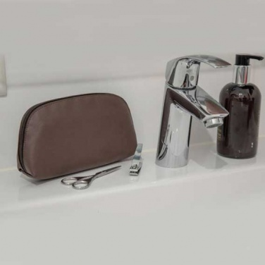 Logotrade promotional items photo of: Apple Leather Toiletry Bag