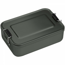 Aluminum lunch box with closure, Grey