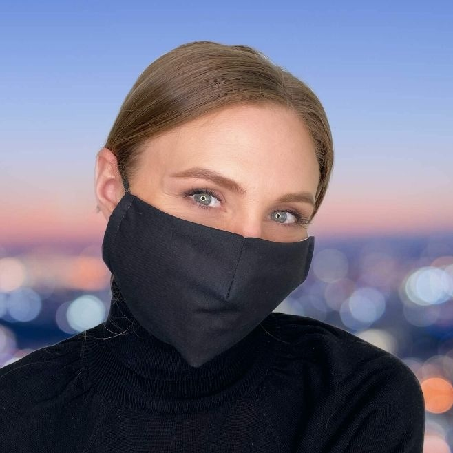 Logo trade promotional gifts picture of: Face mask with a filter, black