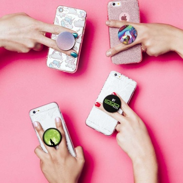 Logo trade promotional giveaways image of: PopSockets ComboPack, white